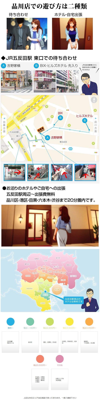 五反田・品川デリバリーマップ